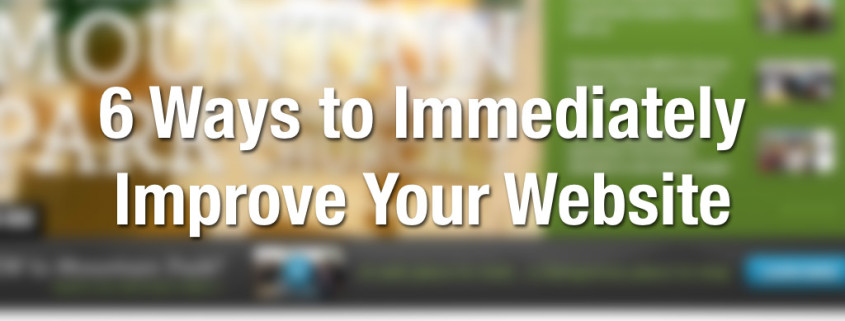 How can you Improve Your Website Immediately?
