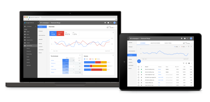 Google Adwords gets a Material Design Makeover