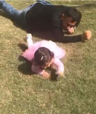This video of MS Dhoni and his daughter Ziva is the cutest thing you will see today!